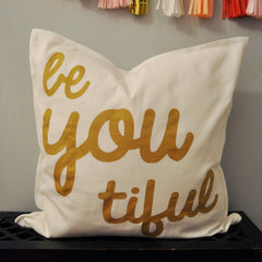 Beyoutiful Pillow Cover - Our Traditions Boutique - 2