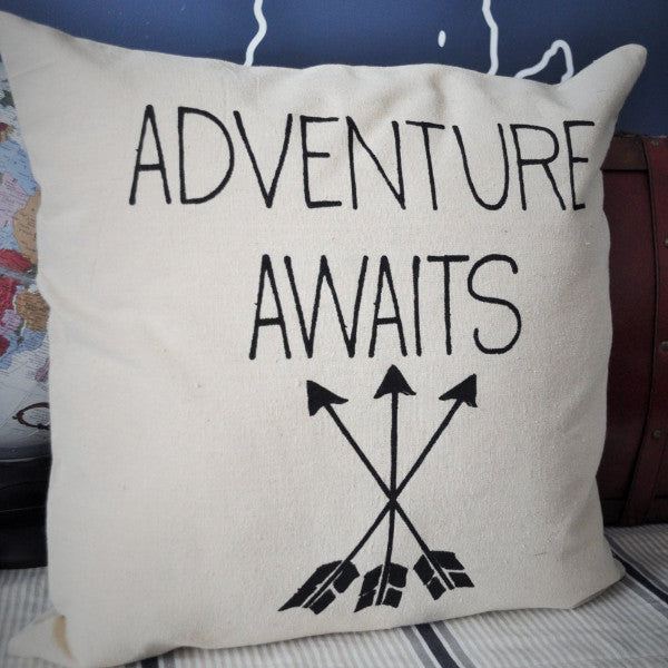 Adventure awaits pillow cover - Our Traditions Boutique - 3