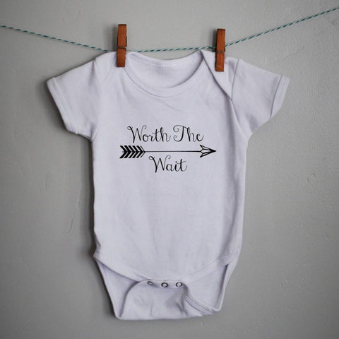 Worth the Wait Onesie, baby girl onesie, baby onesie, onsie,  baby shower gift, printed baby onesie, printed baby shirt