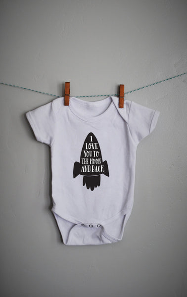 I love you to the moon and back onsie for Boy or Girl - Our Traditions Boutique - 1