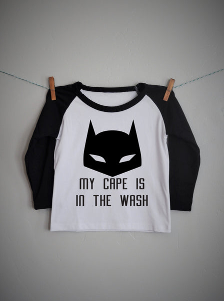 My cape is in the wash, boys raglan shirt - Our Traditions Boutique