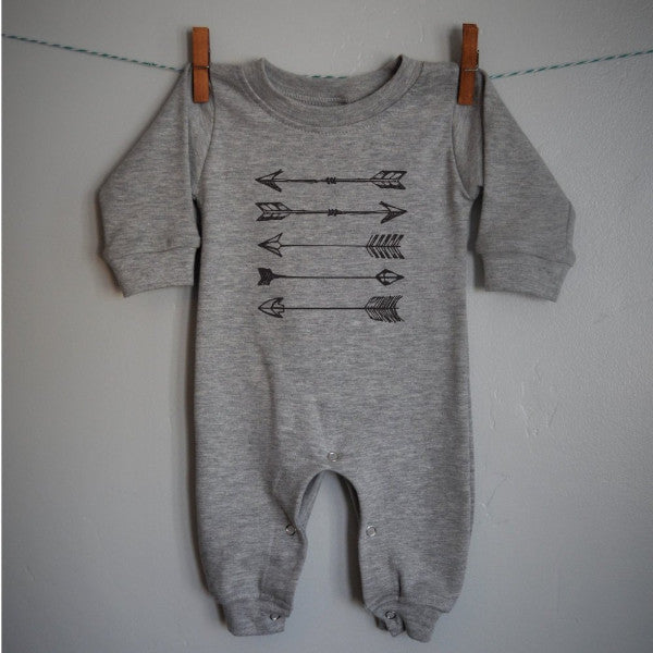 Arrow Romper for baby boy or baby girl Romper (Long sleeve Romper) - Our Traditions Boutique
