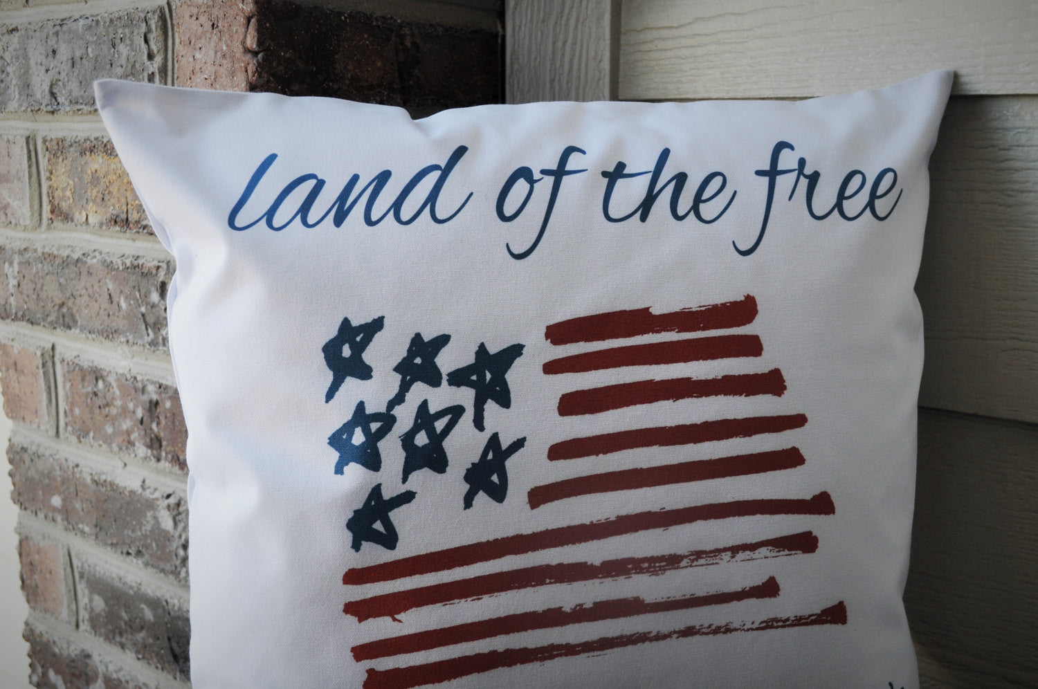 Land of the Free Patriotic pillow cover - Our Traditions Boutique - 3