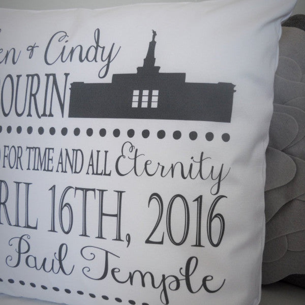 lds wedding gift -  lds temple pillow cover - Our Traditions Boutique - 2