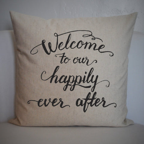 Happily ever after pillow cover - Our Traditions Boutique - 1