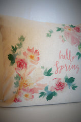 Hello Spring Pillow Cover - Our Traditions Boutique - 4