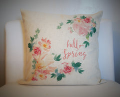 Hello Spring Pillow Cover - Our Traditions Boutique - 3