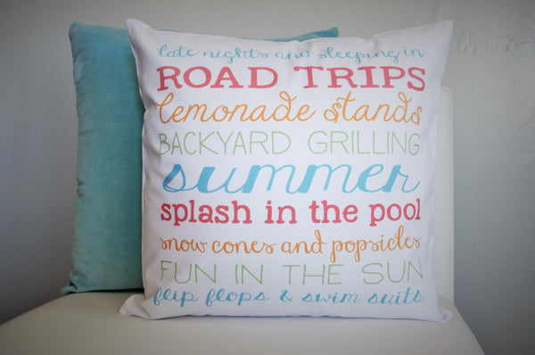 SUMMER CLEARANCE SALE, Summer Subway, Summer Subway Pillow, Summer Pillow, Summer decor - Our Traditions Boutique - 1