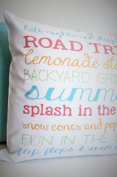 SUMMER CLEARANCE SALE, Summer Subway, Summer Subway Pillow, Summer Pillow, Summer decor - Our Traditions Boutique - 2
