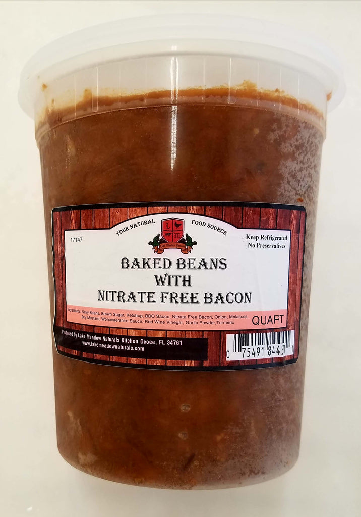 Baked Beans With Nitrate Free Bacon
