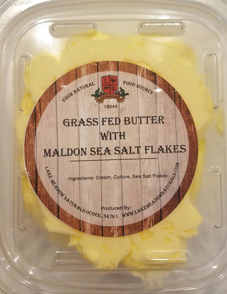 Lake Meadow Grass Fed Butter with Maldon Sea Salt Flakes