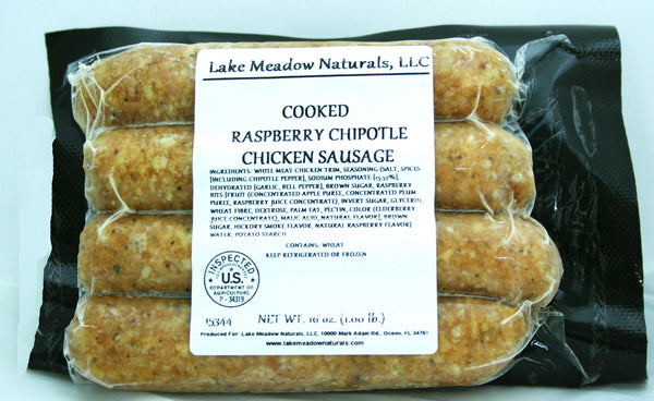 Raspberry Chipotle Chicken Sausage