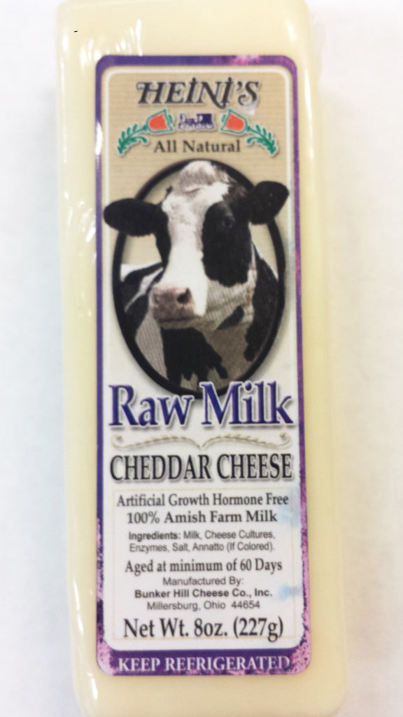 Raw Milk Cheddar Cheese 8oz Block