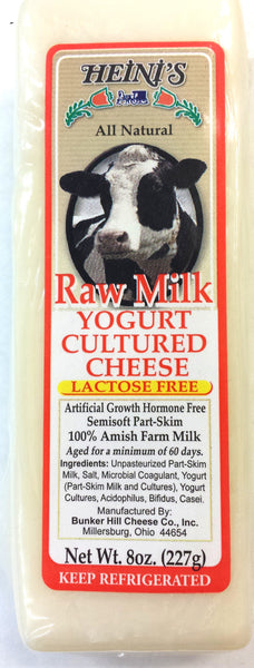 Raw Milk Yogurt Cultured Cheese 8oz block