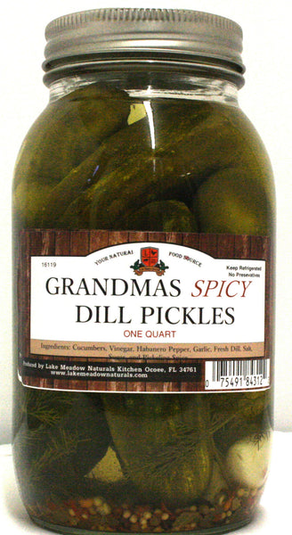 Grandma's Spicy Dill Pickles