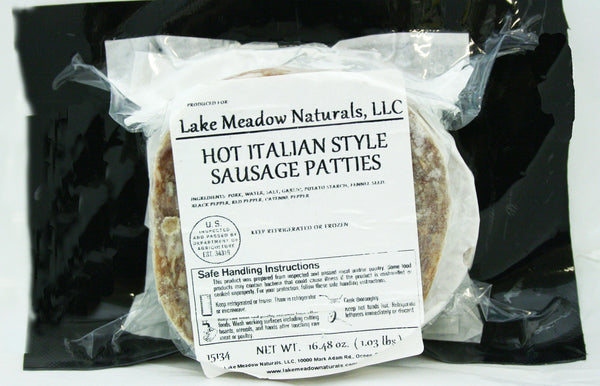 Hot Italian Style Sausage Patties