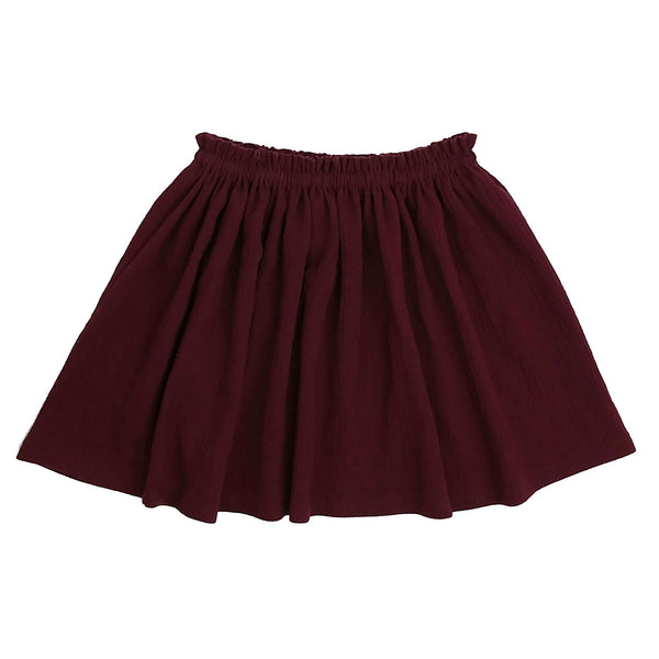 (2T-14Y) Burgundy High Waist Skirt