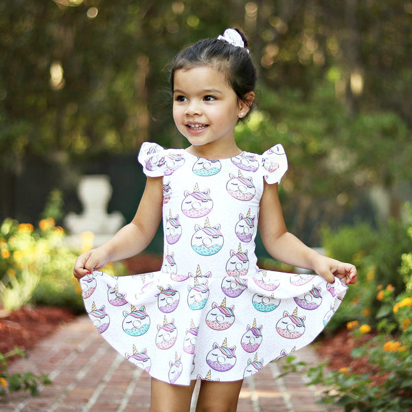 (3M-12Y) Unicorn Donut Mini Twirl Dress
