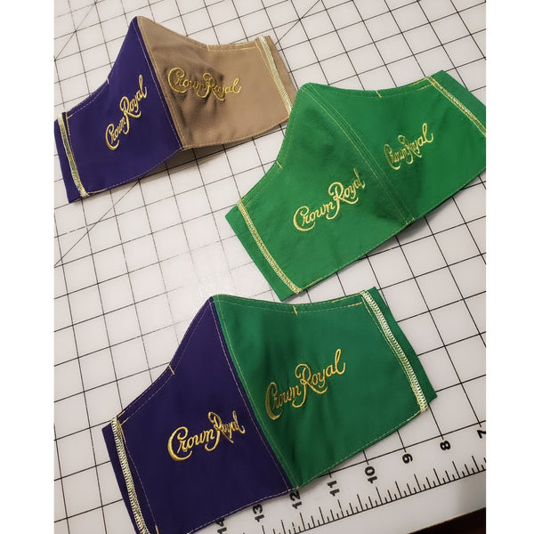 Crown Royal Face Mask- Multiple Colors