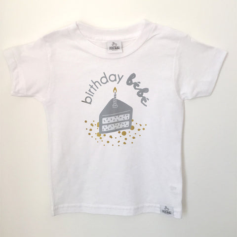 birthday bebe 1 bamboo/organic cotton shirt