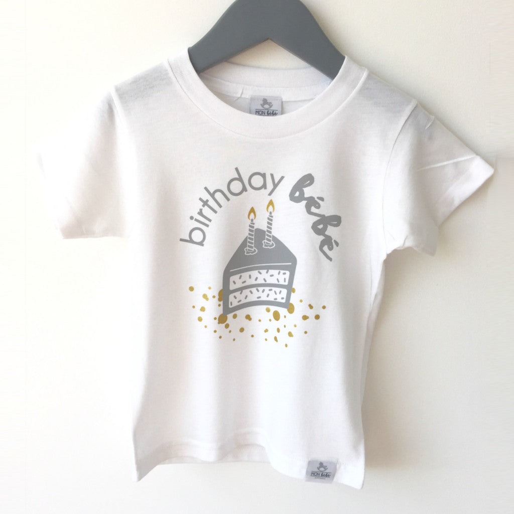 birthday bebe 2 bamboo/organic cotton shirt