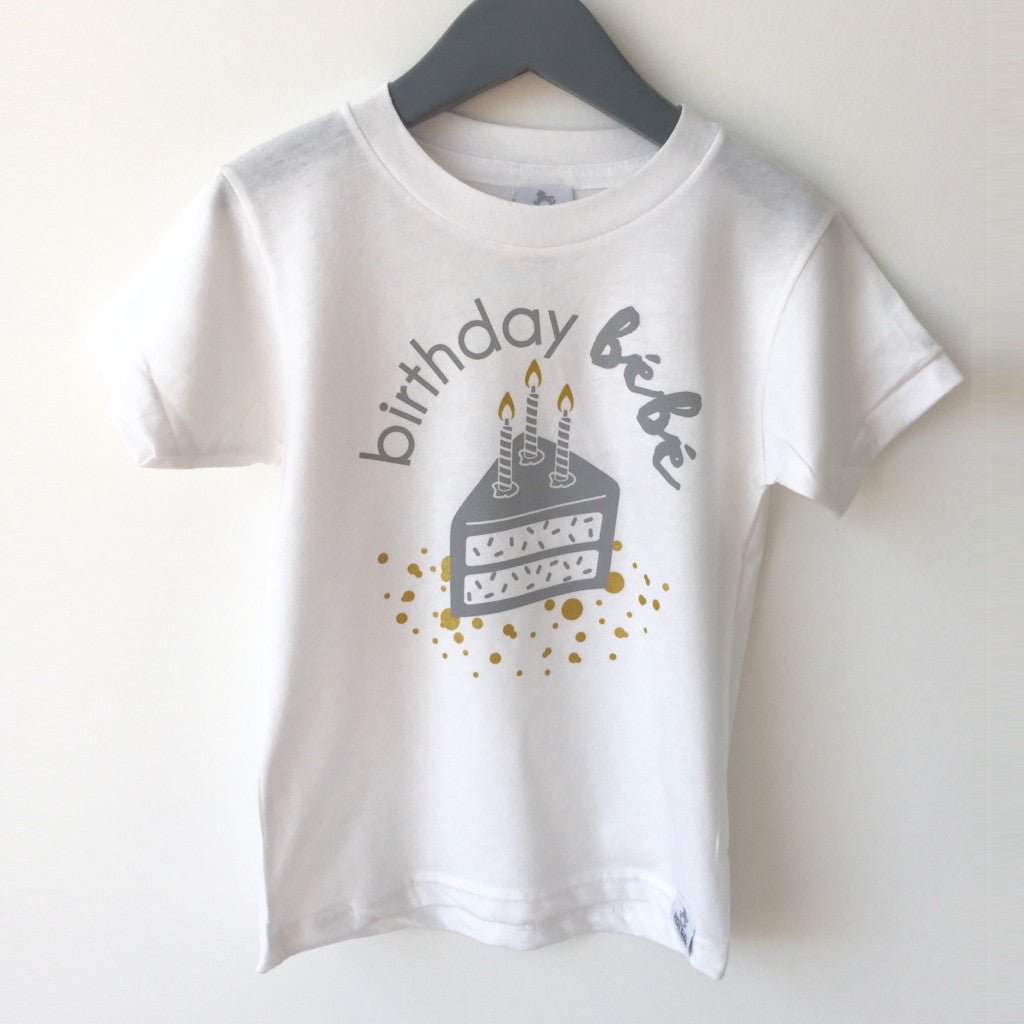 birthday bebe 3 bamboo/organic cotton shirt