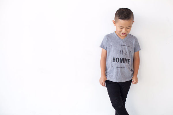 little homme grey toddler shirt