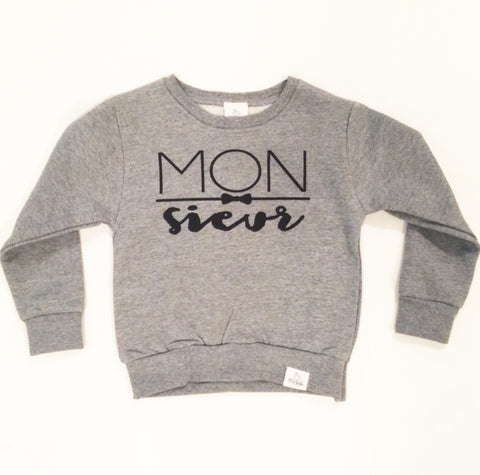 monsieur toddler sweatshirt