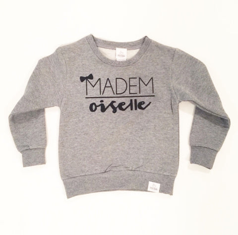 mademoiselle toddler sweatshirt