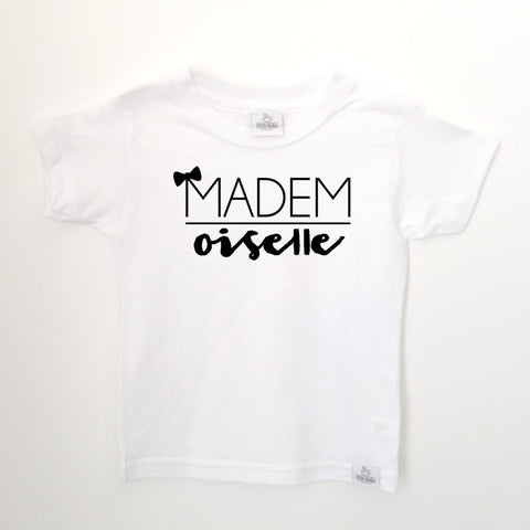 mademoiselle white toddler shirt