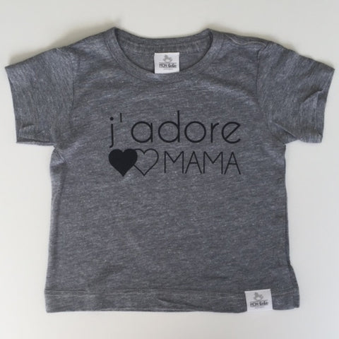 j'adore MAMA grey toddler shirt