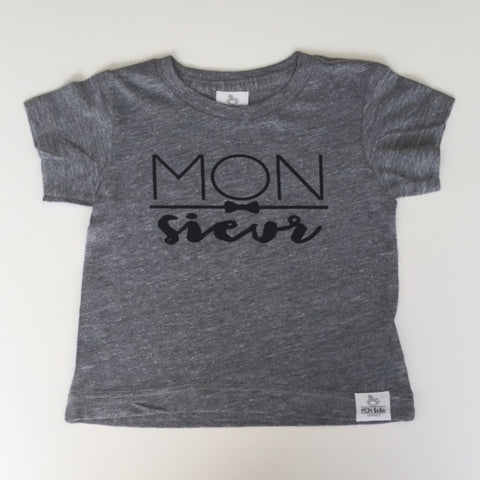 monsieur grey toddler shirt