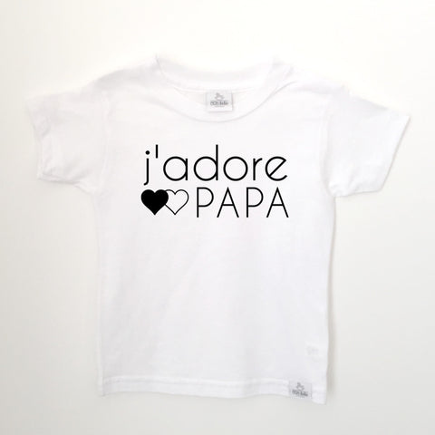 j'adore PAPA white toddler shirt