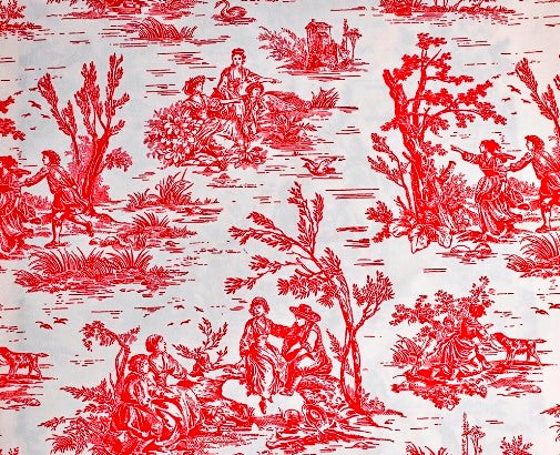 Microvelvet - RASPBERRY TOILE (Red)