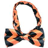 Bow Tie - Orange - Chevron