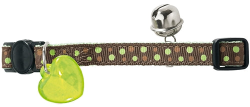 Hunter Cat Collar - Brown & Green Dots