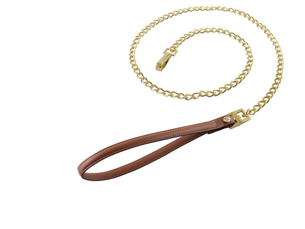 Frida - Chain & Leather Lead - Brown