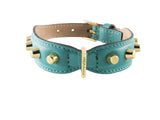 Frida - Studs & Italian Leather - Emerald Green