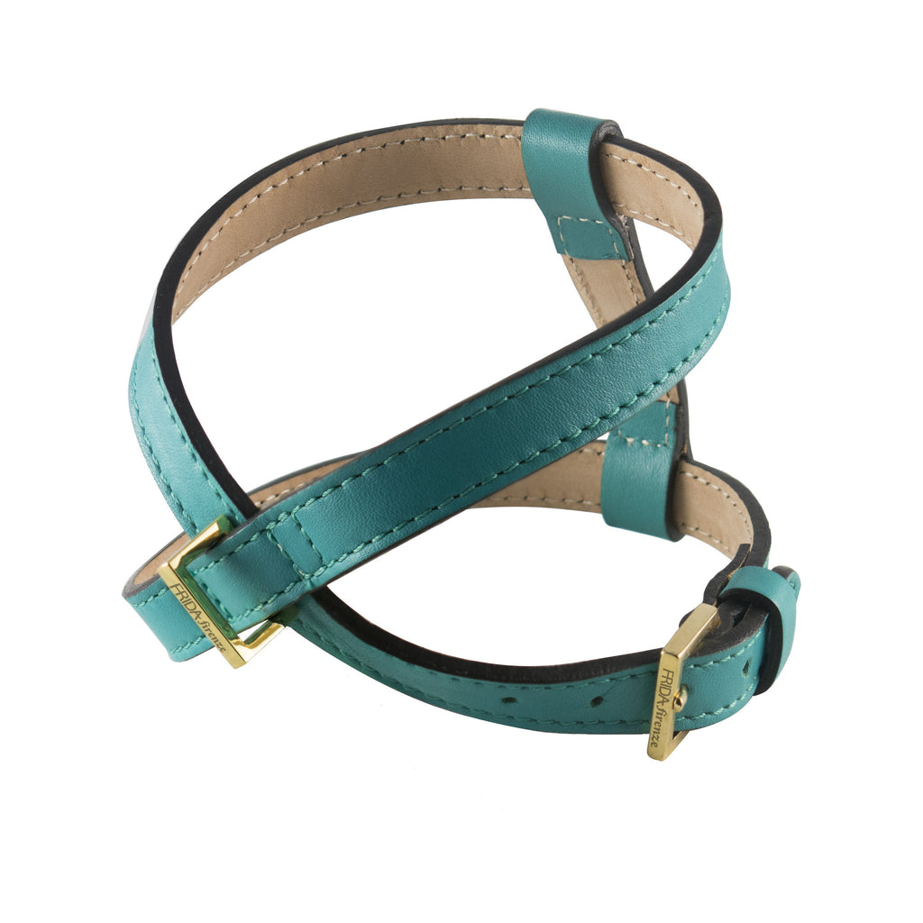 Frida - Leather Harness - Emerald Green