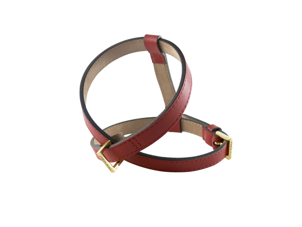 Frida Leather Harness - Ruby Red