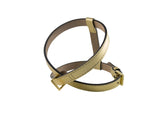 Frida - Leather Harness - Metal Gold