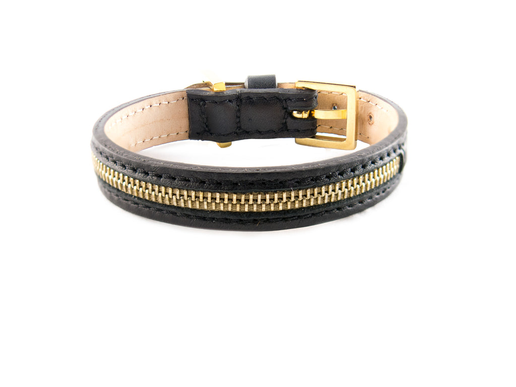 Frida Zip - Black & Gold