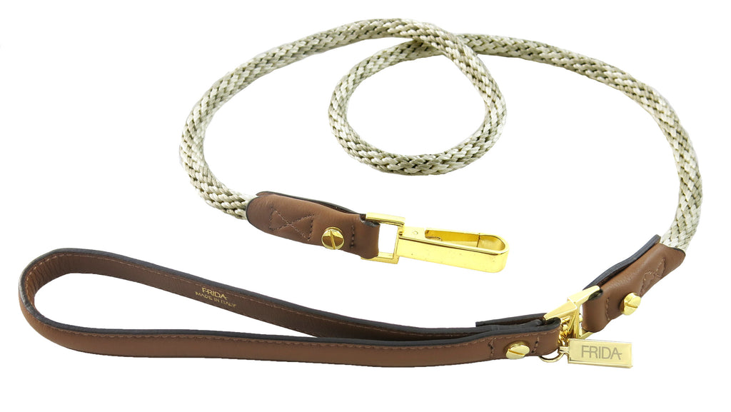 Frida - Napa Leather & Rope - Beige & Brown