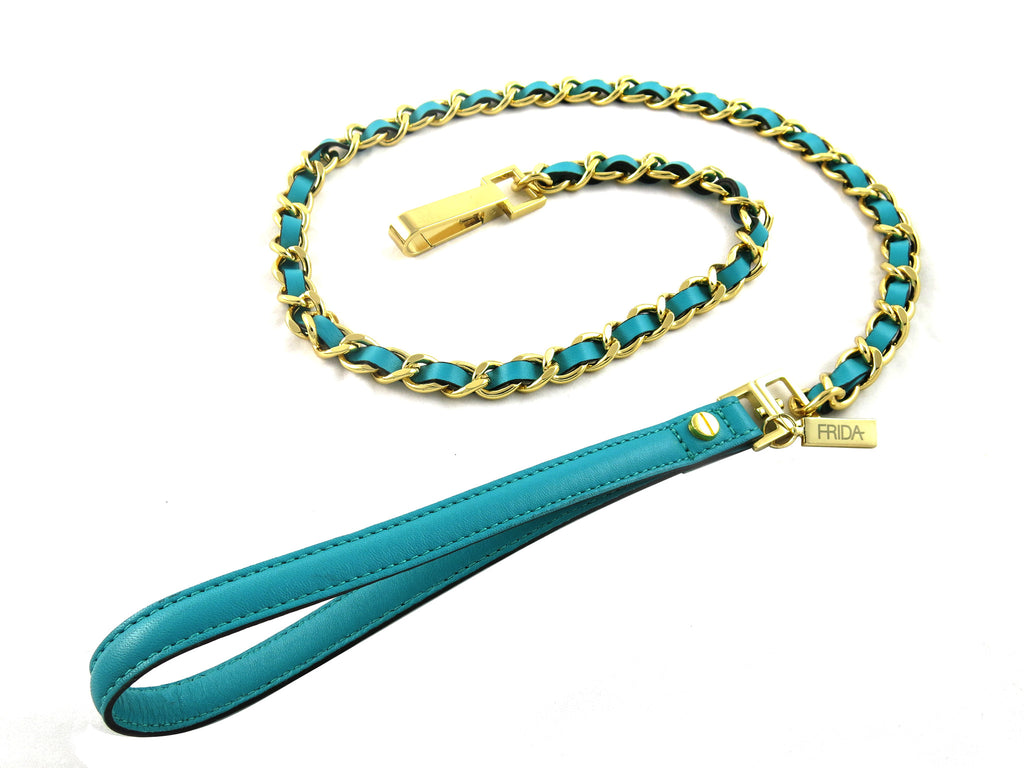 Frida Napa Leather & Chain - Emerald