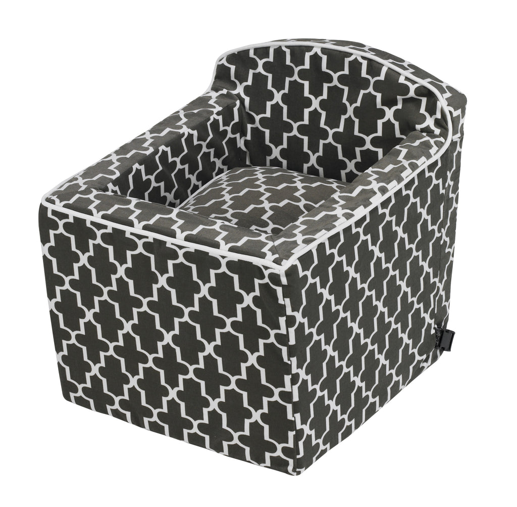Sky Dog Car Seat - Graphite Moroccan Lattice