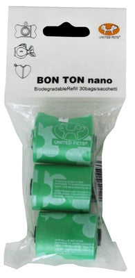 """Nano"" Bon Ton Green (with Flowers) - Biodegradable Refill Bags for ""Nanos"""