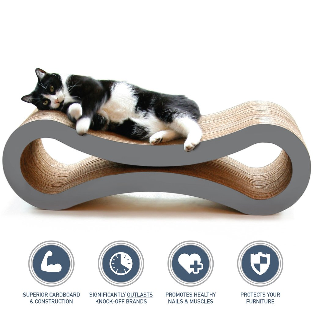 Ultimate Cat Scratcher Lounge™ by PetFusion - Slate Grey