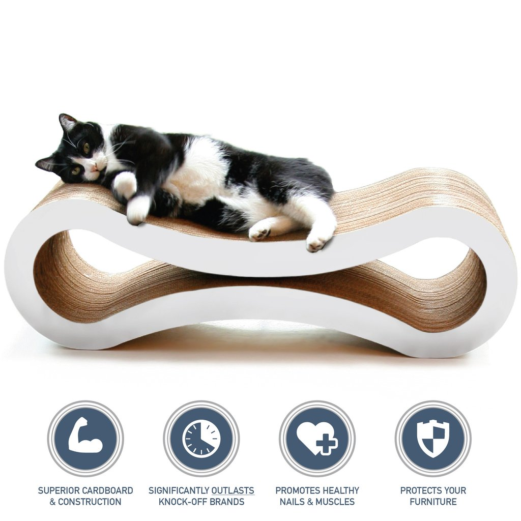 Ultimate Cat Scratcher Lounge™ by PetFusion - White