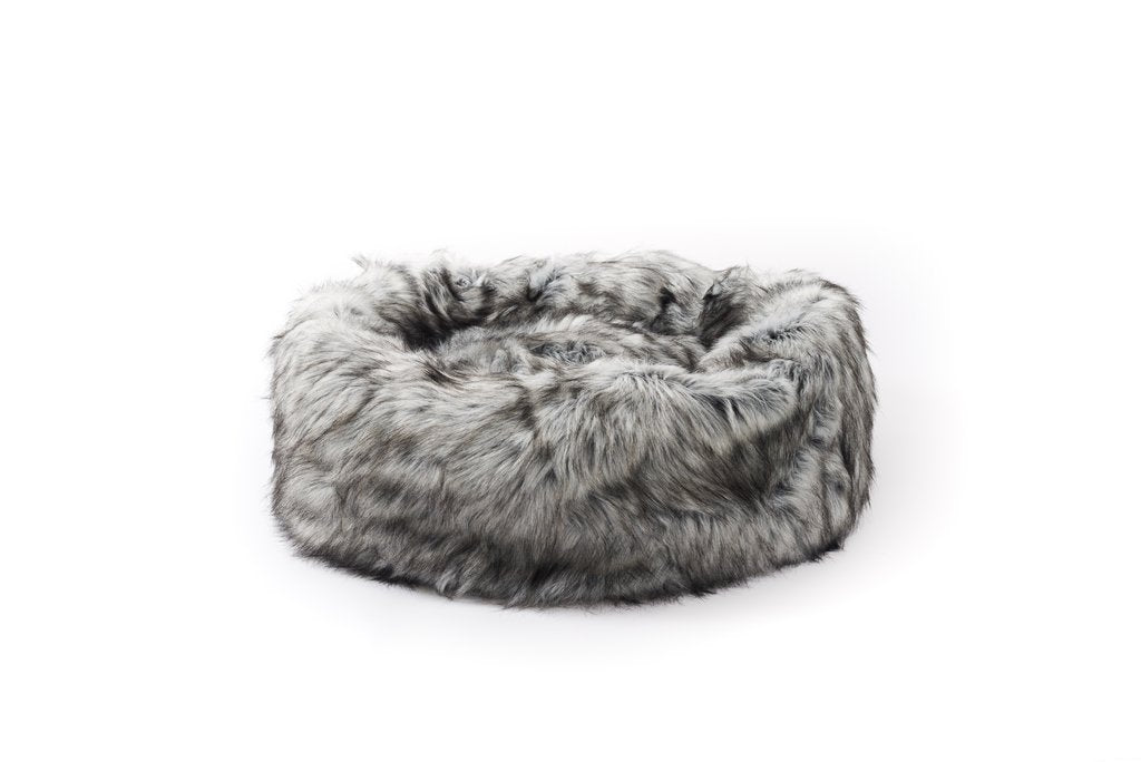 Heavenly Faux Fur Bed - Grey