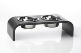 Elevated 2 Bowl Pet Feeder - Black